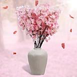 Set of 1 PCS 1 Branch Polyester Sakura Tabletop Flower Artificial Flowers Wedding Scene Arrangement Long 43.3(inch)