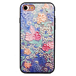 Roses Pattern Painting Touch Feel TPU Border Acrylic Material Phone Case For iPhone 7  7Plus 6S 6 Plus