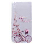 For Sony Case / Xperia X Transparent / Pattern Case Back Cover Case Eiffel Tower Soft TPU Sony Sony Xperia X