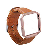 Retro Genuine Leather WatchBand Wrist Strap Bracelet  Frame for Fitbit Blaze