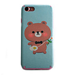 Bear Pattern TPU Silk Material Pattern of Paste Skin Phone Case For iPhone 7 7 Plus