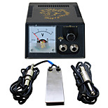 Solong tattooNew LCD Digital Tattoo Power Supply Foot Pedal  Clip Cord Kit P142-1