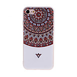 Semicircular Flowers Pattern 3D Stereo Relief Diamond Scrub TPU Material Phone Case For iPhone7 7 Plus