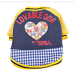 Dog Sweatshirt / Clothes/Jumpsuit / Pajamas Red / Blue Dog Clothes Winter / Spring/Fall Hearts Cute / Casual/Daily /