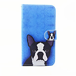 Dog Pattern PU Leather Full Body Case with Stand and Card Slot for LG G5