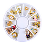 3d Charm Alloy Nail Art Rhinestone Decoration Wheel DIY Beauty Nail Jewelry Supplies