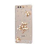 DIY Pearl Flower Pattern PC Hard Case for Huawei P9 Plus LITE P8 LITE Honor 8 7 6 6Plus 5C 5X 4X 4C 4A Mate 9 8 7