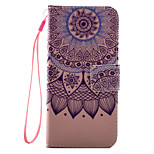 For iPhone 7 7 Plus 6s 6 Plus SE 5S Case Cover Lotus Pattern PU Leather Material Card Stent