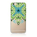 Pour Translucide / Motif Coque Coque Arrière Coque Mandala Flexible TPU AppleiPhone 7 Plus / iPhone 7 / iPhone 6s Plus/6 Plus / iPhone