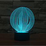 Circle the Ball Touch Dimming 3D LED Night Light 7Colorful Decoration Atmosphere Lamp Novelty Lighting Christmas Light