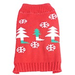 Cat / Dog Sweater Red Dog Clothes Winter / Spring/Fall Snowflake Christmas / New Year's
