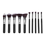 10 Makeup Brushes Set Nylon Portable Wood Face  G.R.C / Send Package