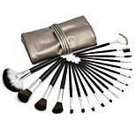 18 Makeup Brushes Set Goat Hair Professional / Portable Wood Face / Eye / Lip