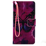 For Xperia X XA XP XZ Case Cover Butterfly Pattern Painting PU Leather Material Card Stent