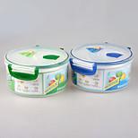 microondas de calidad alimentaria fiambrera redonda con tapa de bloqueo de seguridad