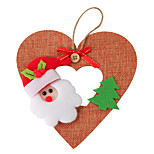 Linen Santa Claus Love Pendant