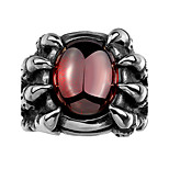 New Arrival Big Red CZ Zircon Ruby Ring Men's Dragon Claw Biker 316L Stainless Steel Punk Rock Style Skull Rings Jewelry Christmas Gifts