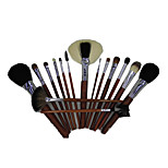16 Makeup Brushes Set Goat Hair Portable Wood Face NFSS