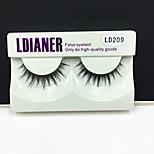 Full Strip Lashes Eyes Thick Handmade mink hair eyelash Black Band 0.10mm 12mm LD209