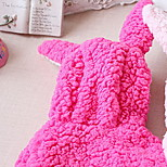 Dog Coat Red / Purple / Pink / Rose Dog Clothes Winter Solid Cute / Casual/Daily