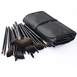 32 Makeup Brushes Set Nylon Hair Professional / Portable Wood Handle Face/Eye/Lip
