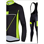 Cycling Jersey with Long Pants Long Sleeve Bike Breathable / Quick Dry / Anatomic Design / Front Zipper / 5D coolmax gel pad