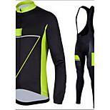 Deportes Chaqueta de Ciclismo con Pantalones Hombres Mangas largas BicicletaTranspirable / Secado rápido / Diseño Anatómico / Cremallera
