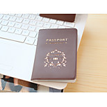 Travel Passport Holder & ID Holder Travel Storage Waterproof / Dust Proof / Portable PU Leather