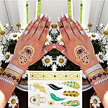 4 Tattoo Stickers Jewelry Series / Flower Series / Totem Series / Others / Cartoon Series / Romantic SeriesNon Toxic / Pattern / Hawaiian