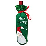 2PCS Christmas Decorations Santa Claus Snowman Red Wine Bag Christmas Wine Bottle Cover(Style random)