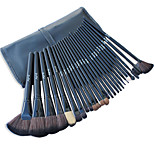 26 Makeup Brushes Set Nylon Hair Professional / Portable Wood Handle Face/Eye/Lip Black