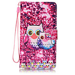 Lovely Owl Pattern PU Leather Lanyard phone Case for HuaWei P9 lite