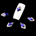 5 Pcs Nail Art Decoration Rhinestone Royalblue