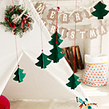 7pcs Christmas Tree Decorated Three-dimensional Ornaments New Window Hotel Mall Non-woven Fabric