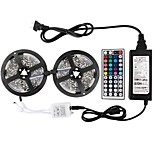 KWB 2 * 5m-5050-150-rgb-ip65 44k2 6apower supply led strip verlichting kit waterdicht