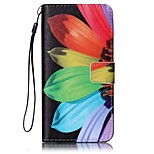Sunflower Painted Card Stent PU Leather Mobile Phone Holster Phone Case for Huawei P9 Lite Y5II Y6II