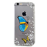 For iPhone 6 Case / iPhone 6 Plus Case Transparent / Pattern Case Back Cover Case Butterfly Soft TPU AppleiPhone 6s Plus/6 Plus / iPhone