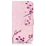 Plum Blossom Pattern Card Holder PU Leather case For iPhone 7 7 Plus
