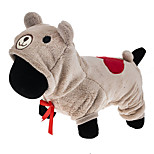 Cat / Dog Costume / Hoodie / Clothes/Jumpsuit Brown / Gray Dog Clothes Winter / Spring/Fall Cartoon Cute / Cosplay / Keep Warm
