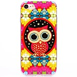 Red Cartoon owl TPU Protection Back Cover Case for iPhone 7/7 Plus/6S/6Plus/SE/5S