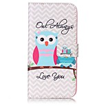Owl Pattern Card Holder PU Leather case For iPhone 7 7 Plus