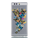 For Huawei P9 P9 Lite P8 Lite Butterfly Pattern High Permeability TPU Material Phone Case