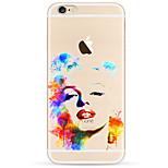 Für iPhone 7 Hülle / iPhone 6 Hülle / iPhone 5 Hülle Ultra dünn / Muster Hülle Rückseitenabdeckung Hülle Sexy Lady Weich TPU AppleiPhone
