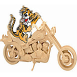 Jigsaw Puzzles Wooden Puzzles Building Blocks DIY Toys Car / Motorcycle 1 Wood Ivory Model & Building Toy