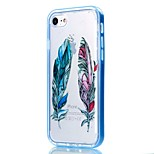 For iPhone 7 Case / iPhone 6 Case / iPhone 5 Case Transparent / Pattern Case Back Cover Case Feathers Soft TPU AppleiPhone 7 Plus /
