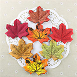 50PCS High Quality Artificial Maple Leaf Photograph Prop