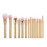 15Lidschatten Pinsel / Lippenpinsel / Wimpernbürste / Eyeliner Pinsel / Flüssiger Eyelinerpinsel / Wimpernkamm (flach) / Wimpernkamm