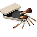 7 Makeup Brushes Set Synthetic Hair Professional / Travel / Full Coverage / Eco-friendly / Portable Wood Face / Eye / Lip Others