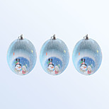 Christmas Decoration Ball Blue Colour 3pcs