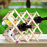 1PC Creative Newfangled Kitchen Grogshop Restaurant Decoration Wood Art Wine Place Rack